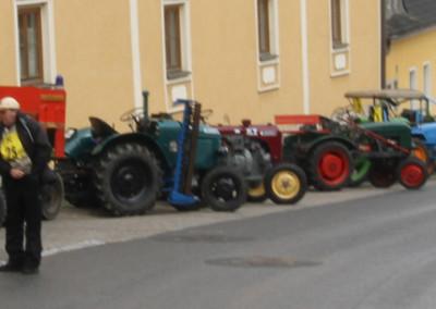Traktorausfahrt zum Theater in der Kellergasse am 10. August 2019