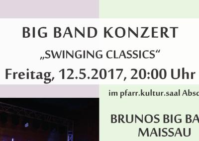 Konzert der Brunos Big-Band aus Maissau im pfarr|kultur|saal (KVV)