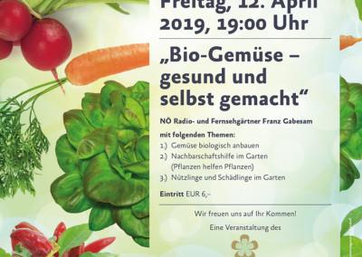 Gartenvortrag mit Franz Gabesam