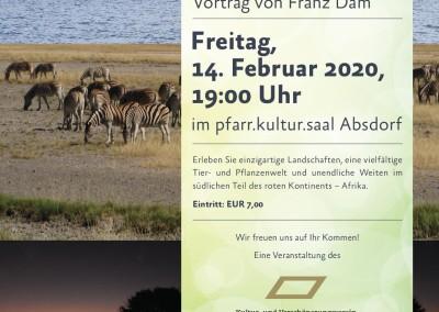 Südliches Afrika – Ein Reisevortrag mit Franz Dam am 14.2.2020